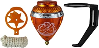 3 Pack King Cobra Durable Plastic Spin Tops & Metal Tip Made in Mexico - Trompo Mexicano King Cobra Plástico Durable & Punta de Metal (Pack of 3 Assorted Colors)