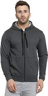Scott International Men's Cotton Turtle Neck Hoodie (1.1_sshz12_M_Charcoal_Medium)