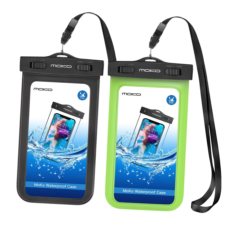 MoKo Funda Impermeable - [2-Pack] Waterproof Case Universal ...