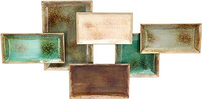 Amazon.com: Hojas/abstracto arte de la pared grupo: Home ...