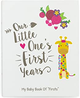Ronica First Year Baby Memory Book & Baby Journal - Modern Baby Shower Gift & Keepsake for New Parents to Record Photos & milestones - Five Year Scrapbook & Picture Album for boy & Girl Babies