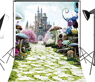 LB Dream World Wonderland Backdrop for Photography 5x7ft Vinyl Fairy Castle Photo Background Customized Kids Newborn Adults Birthday Party Backdrop Portrait Photo Studio Prop JLT-6695