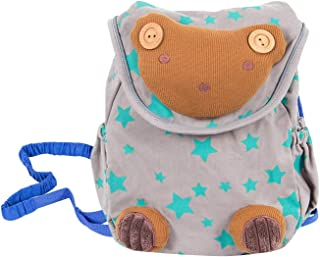 Labebe Grey Baby Backpack with Anti-Lost Leash, Bear Backpack for Baby 1-3 Years