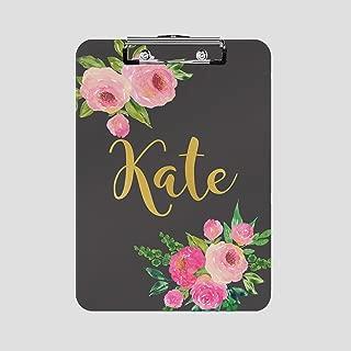 Personalized Clipboard - Custom Designs (Black Rose Drop)