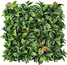 FLORALEAFArtificial Boxwood Panels Topiary Hedge Plant UV Protected Privacy Ivy ScreenFaux Greenery Wall Décor Outdoor I...