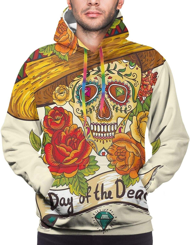 Men's Hoodies Sweatshirts,Skull Camouflage Military Design with Frog Pattern Different Tones Artprint