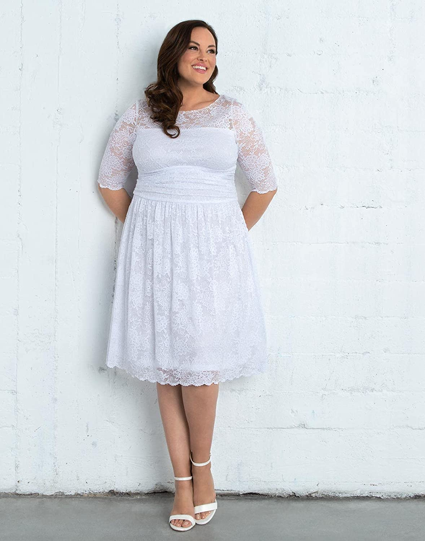 Kiyonna Women's Plus Size Aurora Lace Wedding Dress