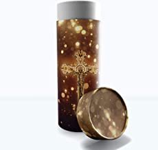 Religious Crosses Cremation Urns Biodegradable & Eco Friendly Cremation Urns for Adult Ashes, Burial Urns, Scattering Tube...