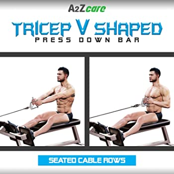 A2ZCARE Tricep V Shaped Press Down Bar