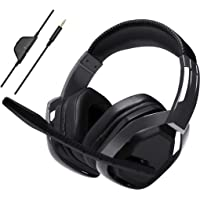 AmazonBasics Pro Over-Ear Wired Gaming Headphones With Microphone