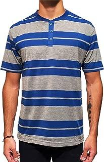 Red Rhino Men's Short Sleeve Henley Crew Neck T-Shirt...