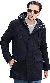 YsCube Mens Parka Jackets for Men Winter Coats for Men Down Parka Mens Jacket Black Outerwear Waterproof -S