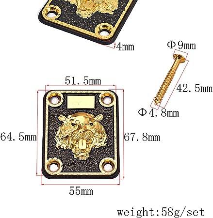 亜鉛合金タイガーネックプレート / freneci 1セット亜鉛合金タイガーパターンネックプレートにこのエレリックグタールDIYパーツ
