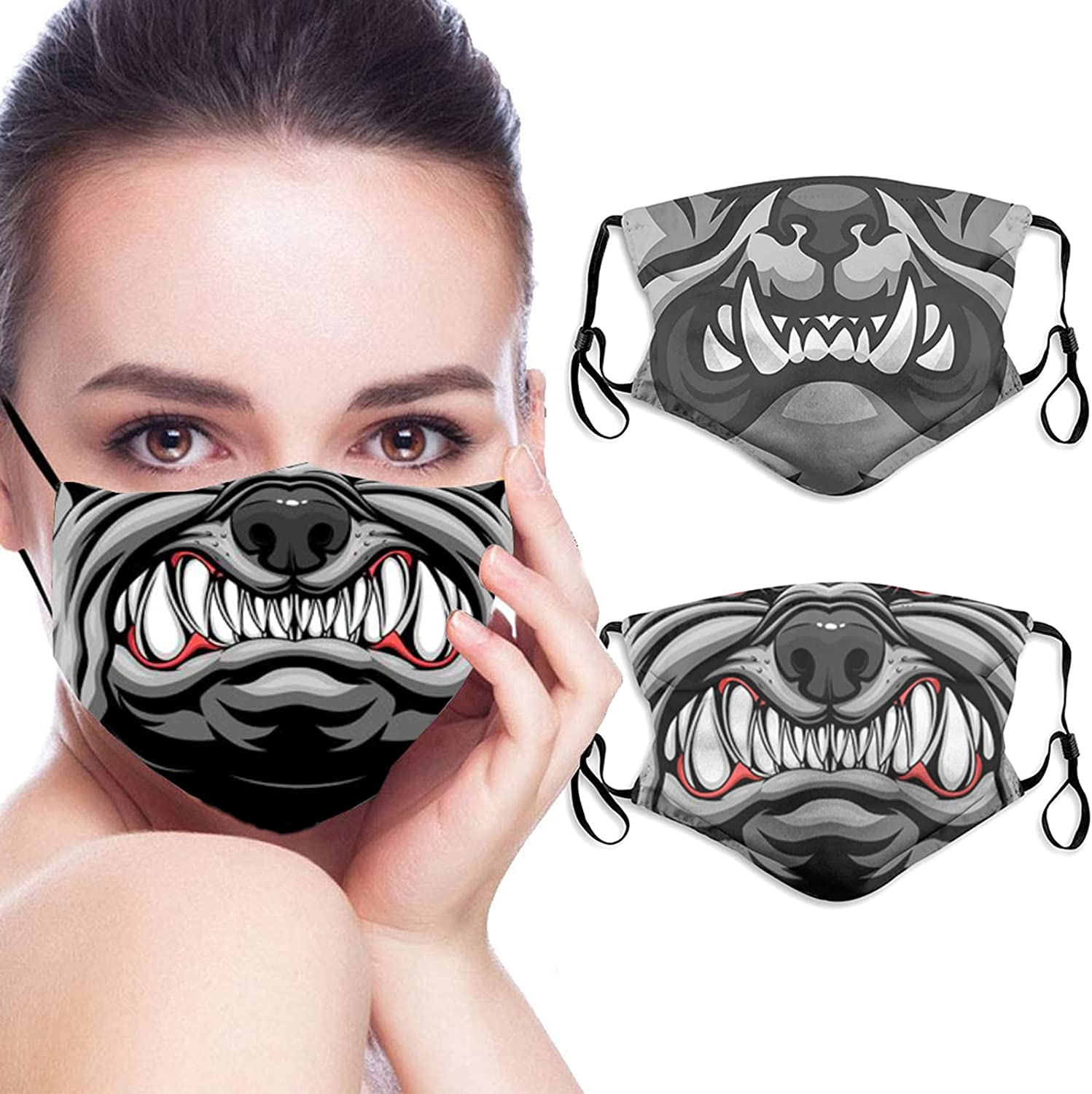 quality assurance Funny Gray Cat Mouth Gift Mask Washable Face Balaclav Ranking TOP1 Adjustable