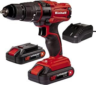 comprar comparacion Einhell TC-CD 18-2 Li-i - Taladro de impacto sin cable, con cargador, 2 baterías 1.5 Ah, 2 velocidades, portabrocas 13 mm,...