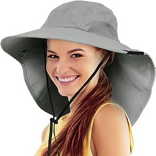 Safari Sun Hats for Women Fishing Hiking Cap with Neck Flap Wide Brim Hat