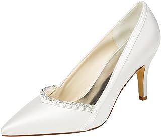 ae3f7bc74 Amazon.es: Satén - Zapatos de tacón / Zapatos para mujer: Zapatos y ...