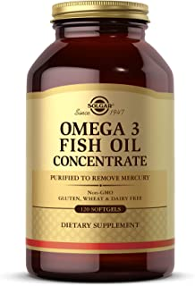 Solgar Omega-3 Fish Oil Concentrate, 120 Softgels - Support for Cardiovascular, Joint & Metabolic Health - Contains EPA & ...