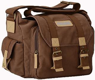 Tubackpack DSLR Camera Micro SLR Photo Bag for Single Shoulder Waist Pack Cross Body Lenses (Coffee)