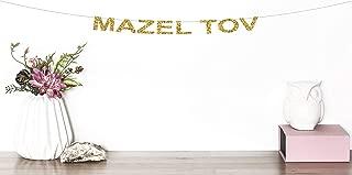 Mazel Tov Glitter Banner Jewish Decor Mazel Tov Party Sign Congratulations Baby Shower Bar Mitzvah Banner Wedding Party Banner