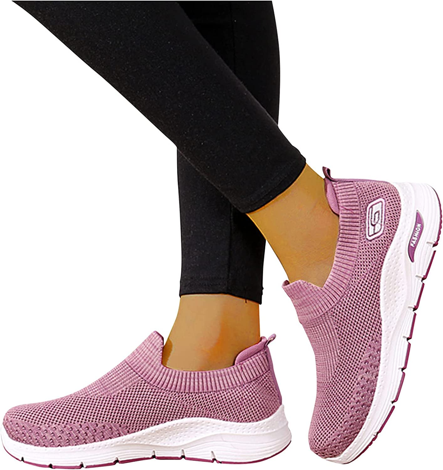 Chunky BootsSock Walking Sneakers For Women With Arch Support, Women'S Leisure Breathable Mesh Outdoor Fitness Running Sport Sneakers Shoes Comfortable Work Sneakers