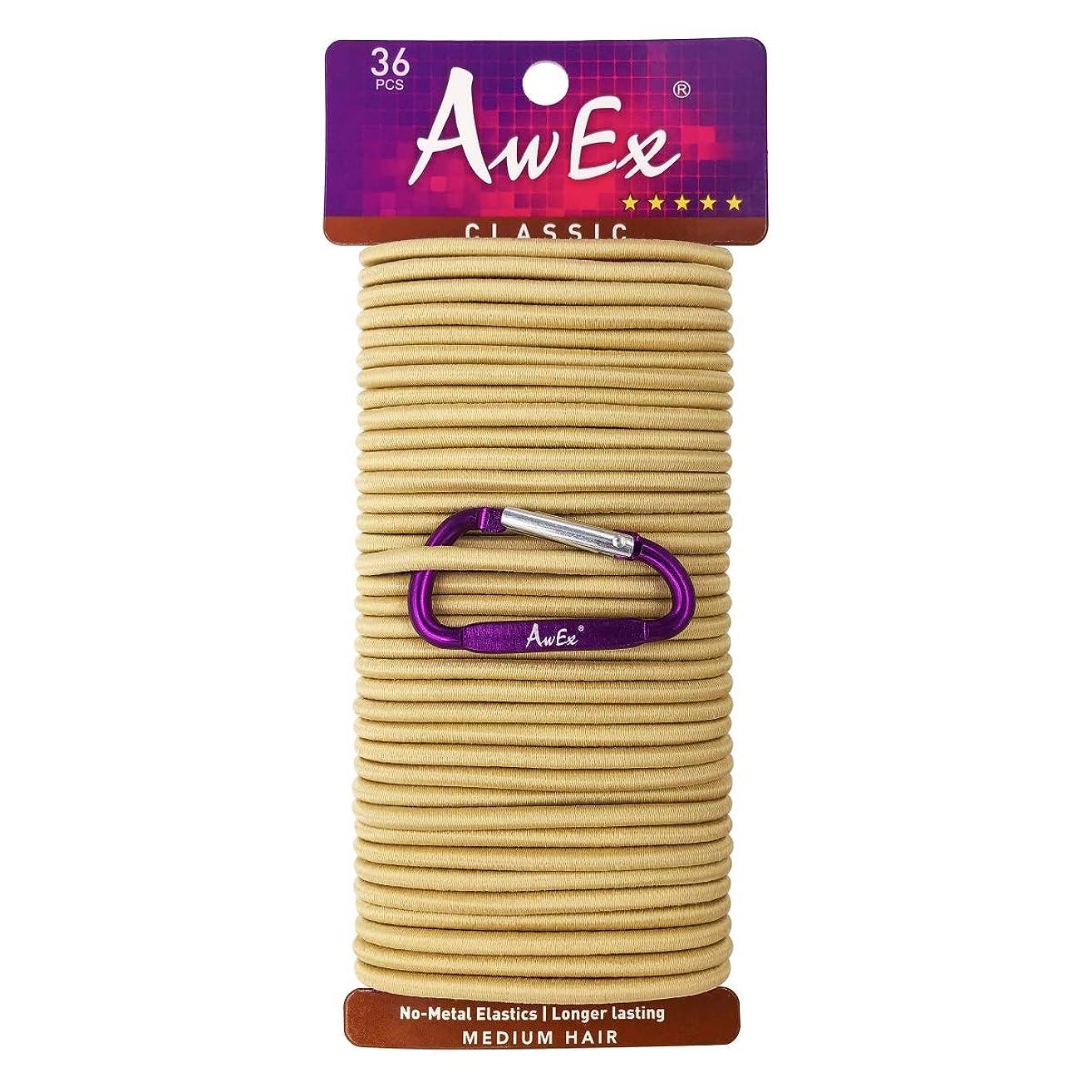AwEx Strong Blonde Hair Ties,36 PCS,4 mm Size Hair Elastics,No Metal Hair Bands,No Pull Ponytail Holders