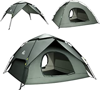 BFULL Pop-up Family Camping Tent 4-5 Persons, Waterproof...