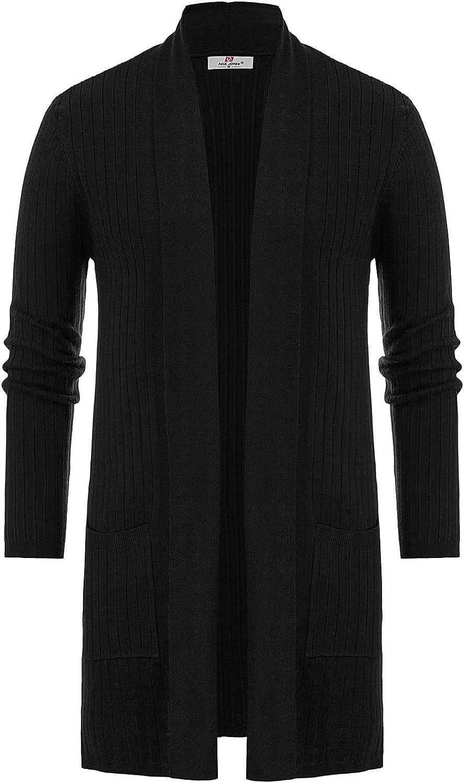PJ PAUL JONES Men's Shawl Many popular brands Collar Open S Max 64% OFF Long Cardigan Knit Front