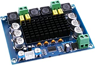Yeeco Audio Amplifier Board Dual Channel 120W+120W Digital Power Amplifier Board DC 12-26V 20V 24V Car Audio Stereo AMP Module with XH2.54-3 Pin Audio Input, DIY Sound System Component