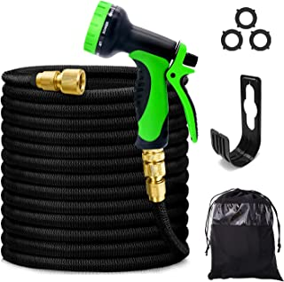 Magcubic Garden Hose Expandable Hose Pipe 50FT/15M Upgraded 3-Layer Latex, Solid Brass Connectors, Durable Weave, Flexible...