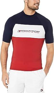 Tommy Hilfiger Men's Colour-Blocked Rashguard Top, Black