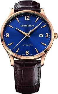 LOUIS ERARD MEN'S 1931 40MM BROWN LEATHER BAND AUTOMATIC WATCH 69219PR15.BRC80