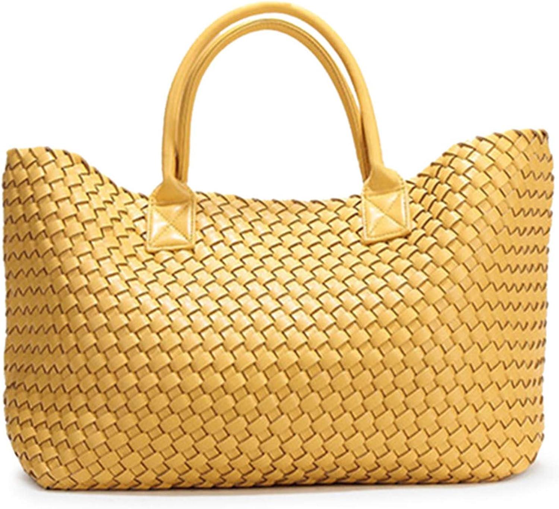 2018 women fashion shoulder bag classic handwoven casual portable dish basket shopping bag