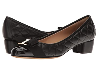 Salvatore Ferragamo Vara Q Pumps (Nero Patent) Women