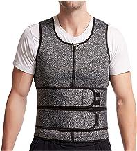 Mannen Body Shaper Neopreen Sauna Vest, Taille Trainer Double Belt Sweat Shirt Corset Top, Buik Afslanken Shapewear Fat Bu...