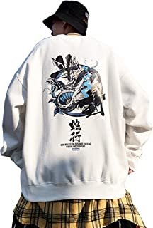 XYXIONGMAO Viper Graphic Crew Neck Sweatshirt Japanese Sweatshirt Oversized Hoodies Men