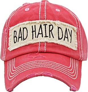 Funky Junque Womens Baseball Cap Distressed Vintage Unconstructed Embroidered Dad Hat