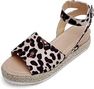 Catata Womens Buckle Strap Platform Open Toe Sandals Espadrille Wedges
