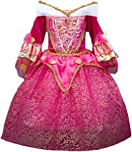 DreamHigh Sleeping Beauty Princess Aurora Girls Costume Dress 3-10 Years