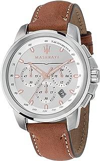 Maserati Men's Successo? R8871621005 Brown Leather Quartz Fashion Watch