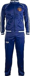 JL Sport Soviet Union CCCP USSR 1970's Jacket Retro Football Tracksuit Zipped Jacket Men Top and Pants