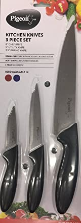 Pigeon by Stovekraft Stainless Steel Kitchen Knives Set, 3-Pieces, Multicolor