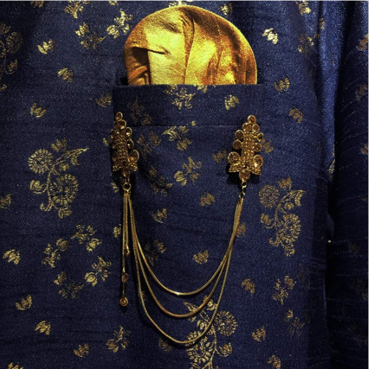 VINTAGE INDIA NYC YD Gold Pocket Jewelry.