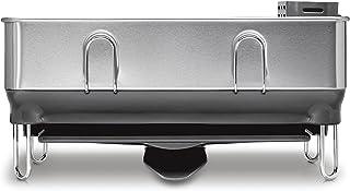Simplehuman KT1179 Kitchen Compact Steel Frame Dish Rack with Swivel Spout Fingerprint-Proof Stainless, Grey Plastic Medium