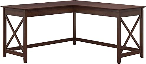 Bush Furniture Key West 60W L Shaped Desk, Bing Cherry