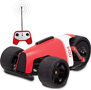 SHARPER IMAGE RC Car RED Phantom Racer Trike, Remote Control Car for Kids, 49 MHz Childrens Race Toy for Boys and Girls, Retro Tadpole Three-Wheeler Style, 360 Degree Spins, Multiplayer (Pair w/Blue)