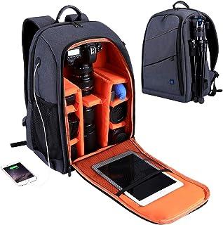 PULUZ Outdoor Portable Waterproof Scratch-proof Dual Shoulders Backpack Camera Accessories Bag Digital DSLR Photo Video Bag