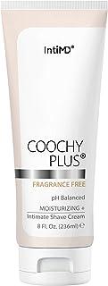 Coochy Plus Intimate Shaving Cream FRAGRANCE FREE For Pubic, Bikini Line, Armpit and more - Rash-Free, Prevents Razor Burn...