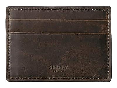 Shinola Detroit Navigator Six-Pocket Card Case (Moss) Wallet Handbags