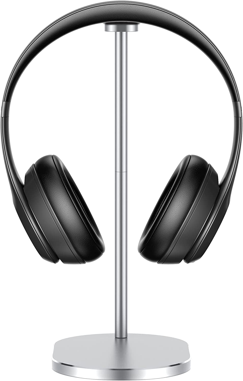 Babacom Soporte Auriculares, Soporte Cascos Gaming Aleación de Aluminio con Base de 5.5mm y Almohadilla de Silicona, Estable Altura Ajustable Headset Stand para Todos Tamaños de Auriculares